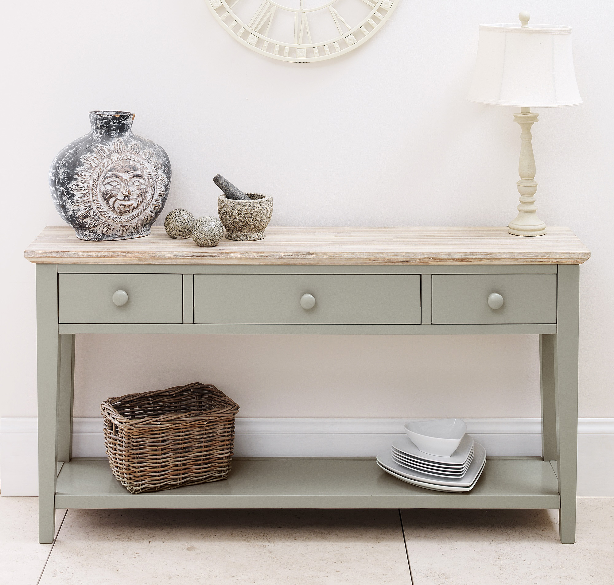 Country style painted console table tutti decor ltd