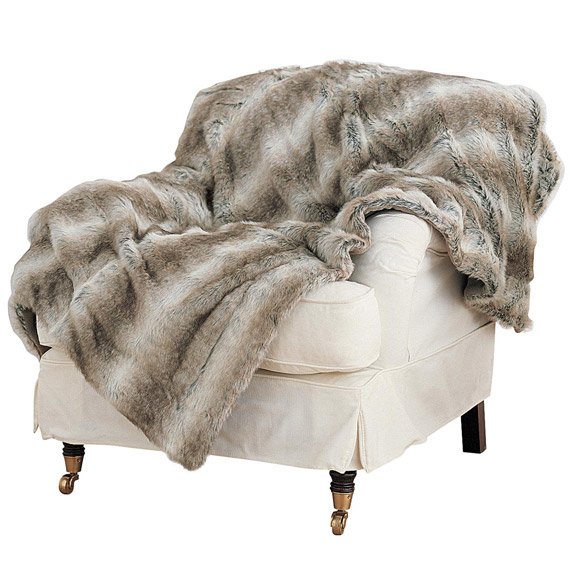 Fur Throw on Chair