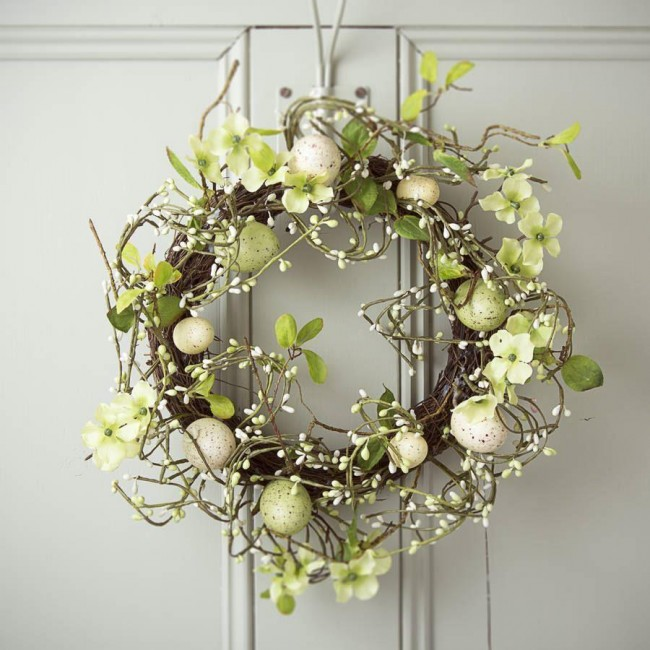 Gisela Graham Country Meadow Easter Wreath Tutti Decor Ltd