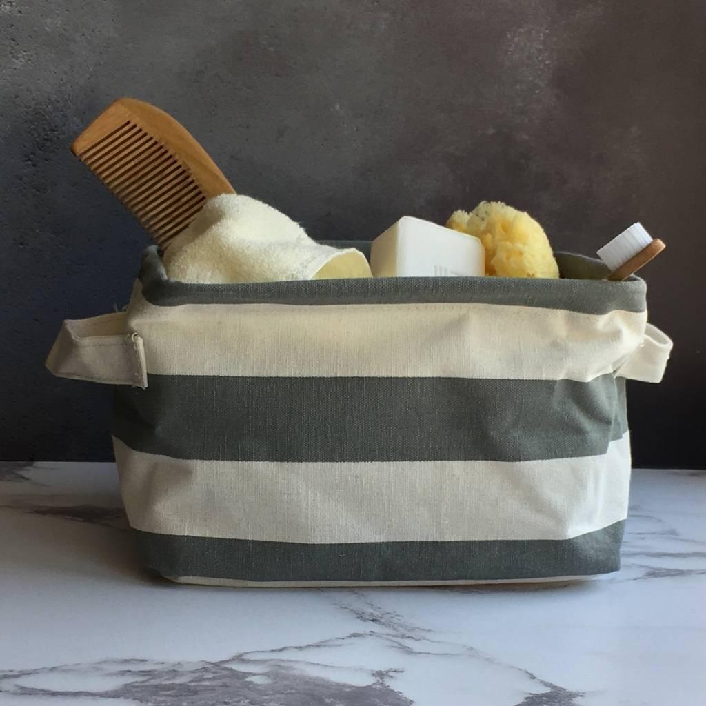 grey-striped-storage-basket