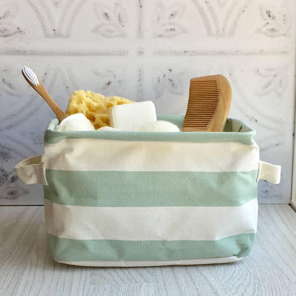 stripe-storage-basket-mint