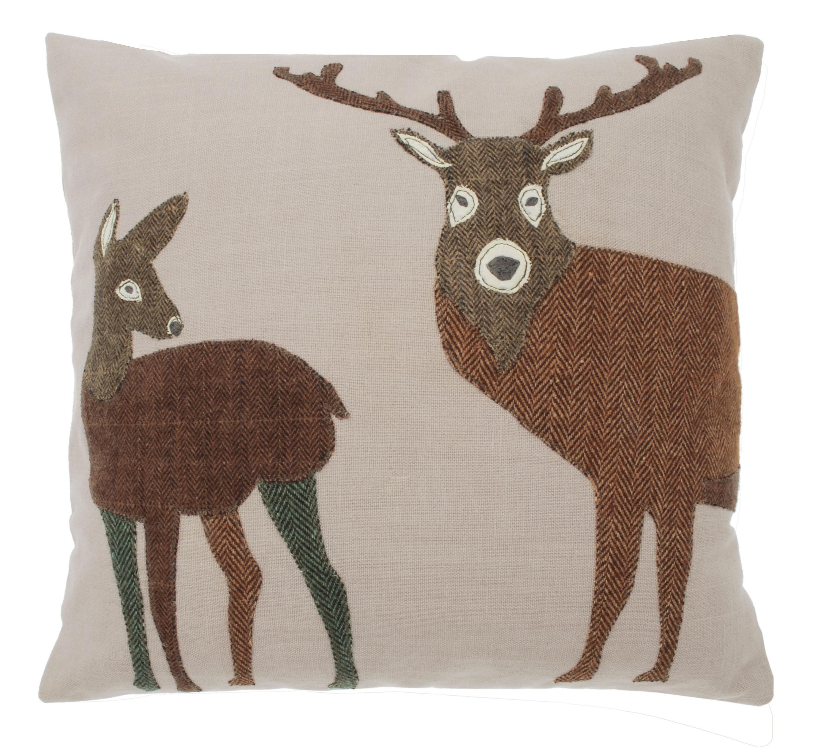 Applique Deer Cushion Tutti Decor Ltd