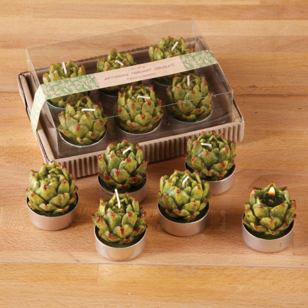 Artichoke tealight candles set tutti decor ltd for Artichoke decoration