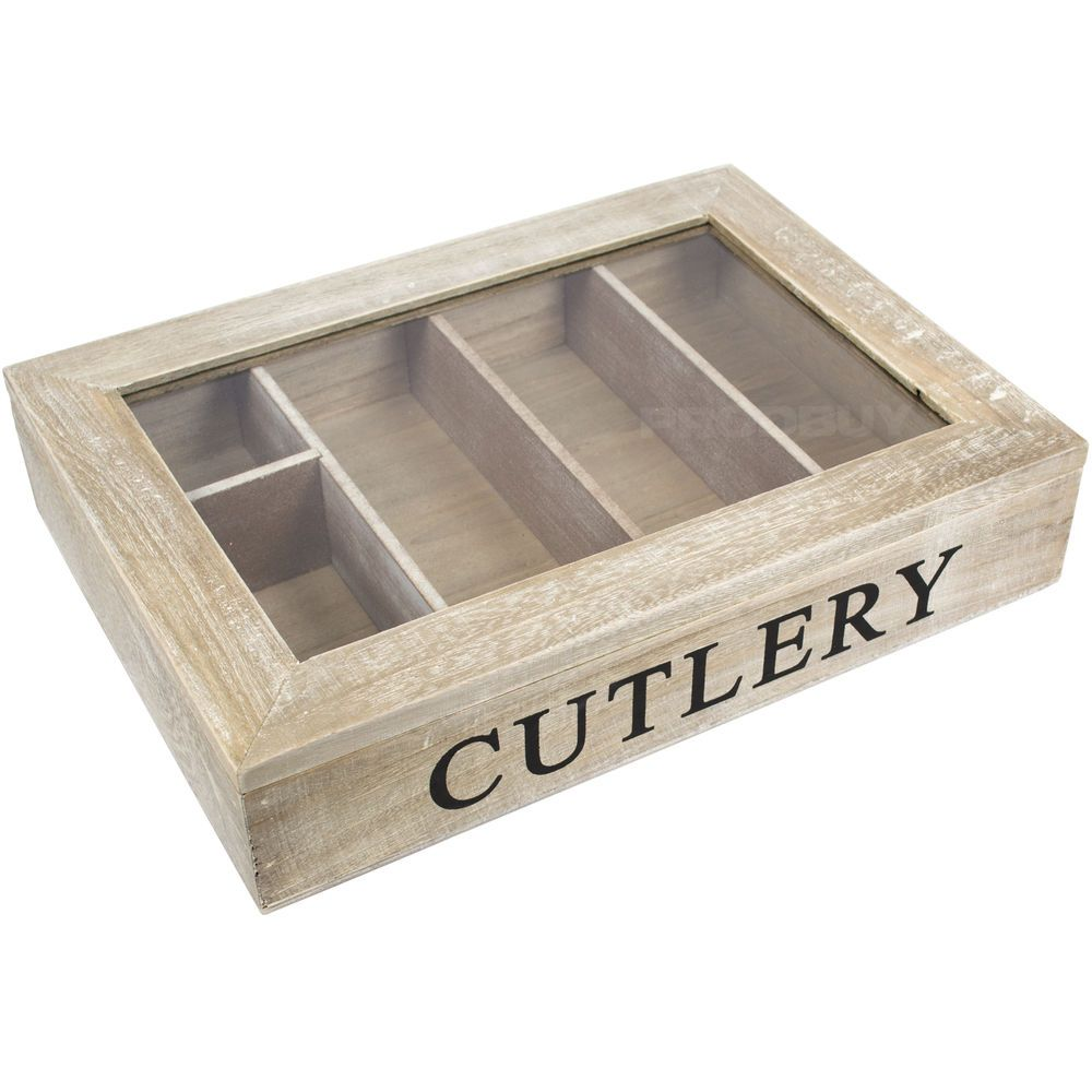 Natural Wooden Cutlery Box Tutti Decor Limited Gisela Graham