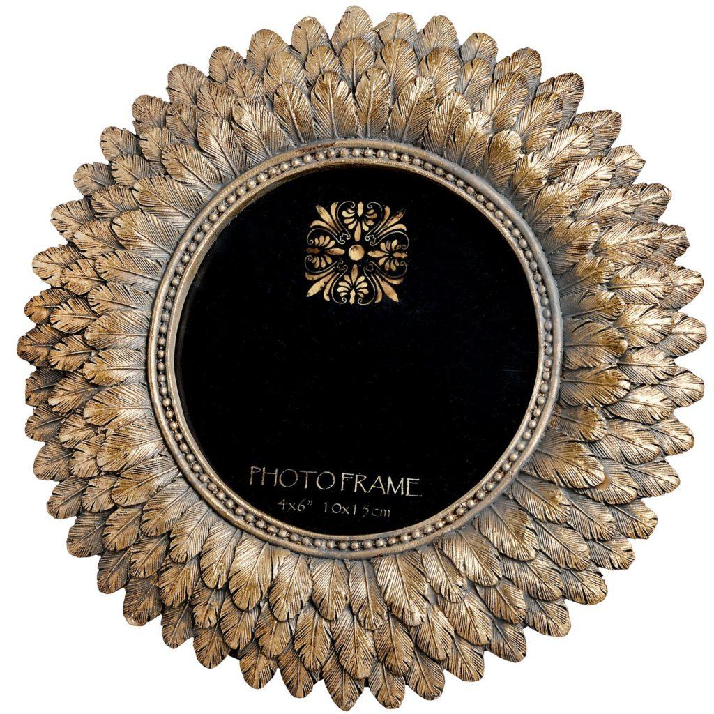 18796-antique-gold-feather-sun-burst-photo-frame