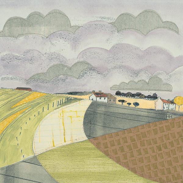 Art group Green-Fields-by-Helen-Hallows-Art-Print-on-Canvas