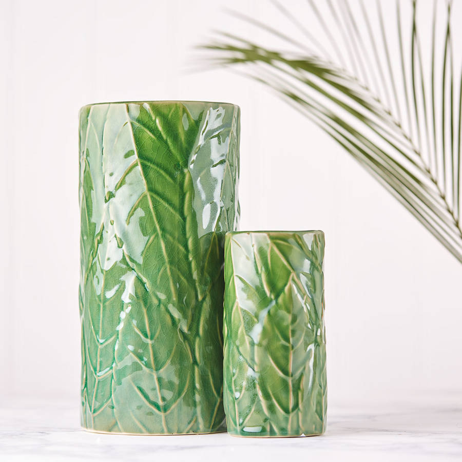original_green-leaf-ceramic-vase