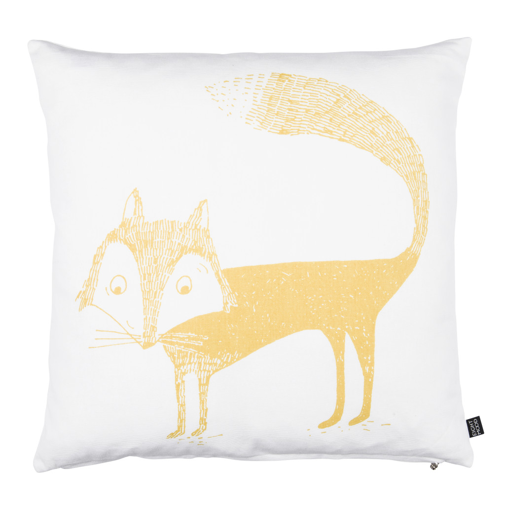 0113248322_Fox_cushion_yellow