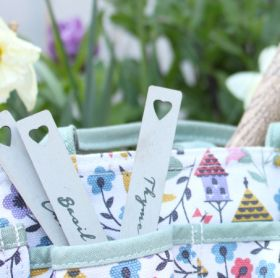 grey herb markers and bag