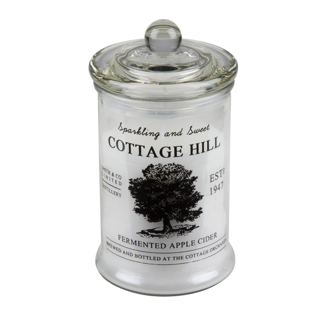 9811220297_Cottage_hill_Candle_Clear_w_black_print
