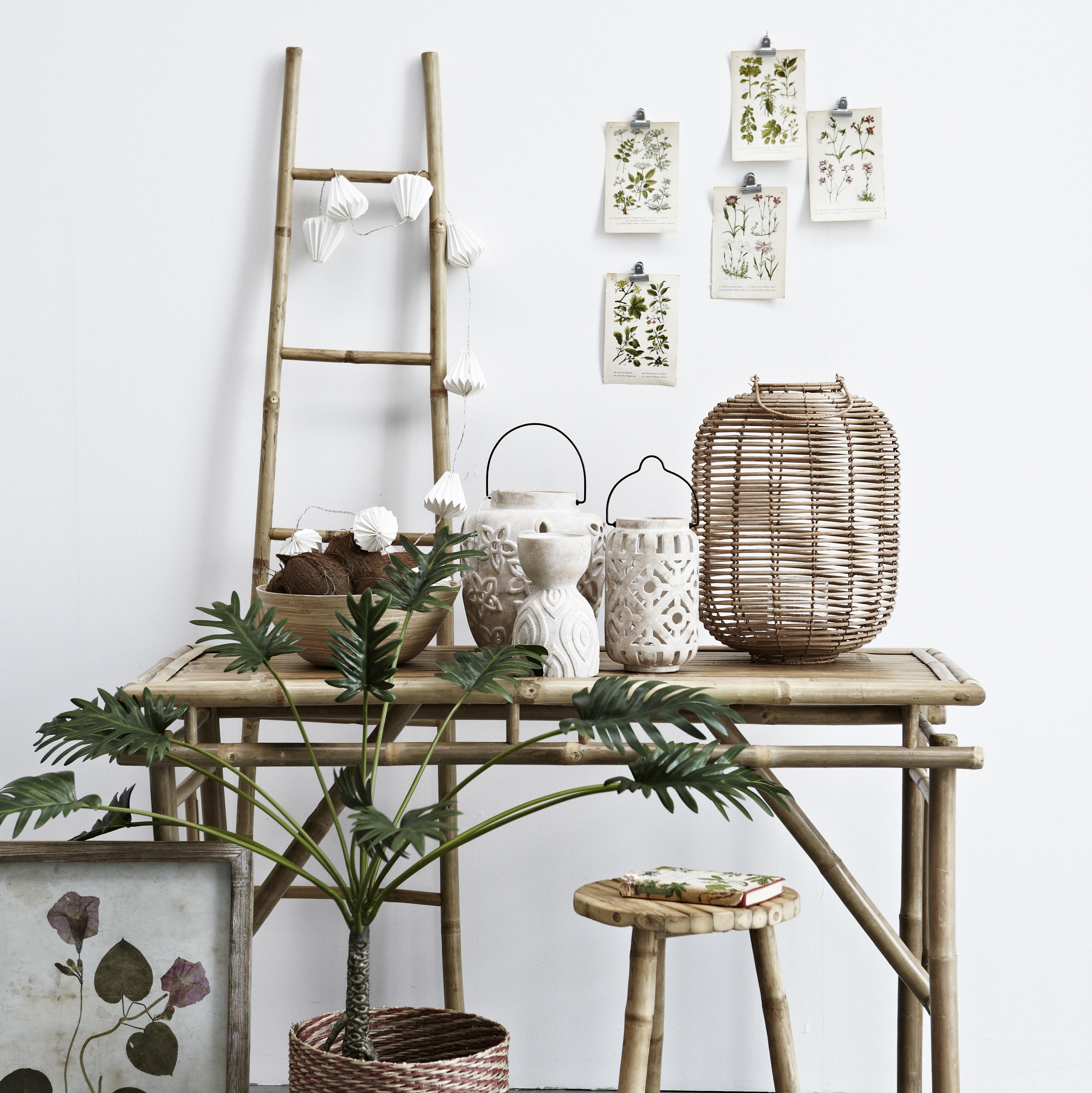 Bamboe decoratie ladder for Decor ladder