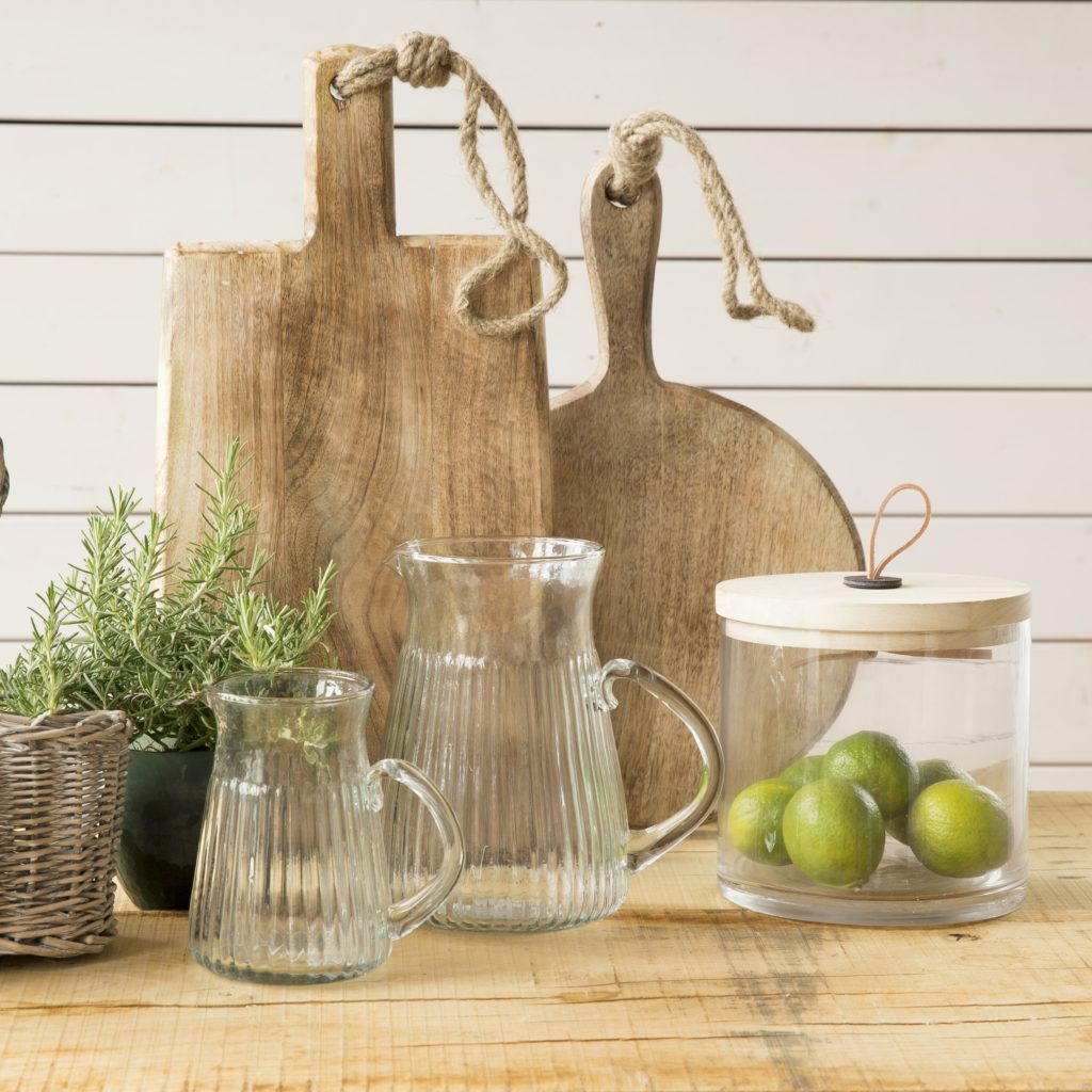 bread boards and storage canister