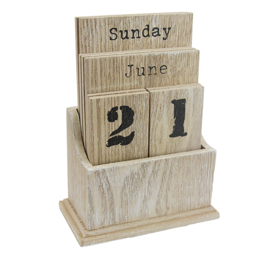 Wooden Desk Top Calendar21