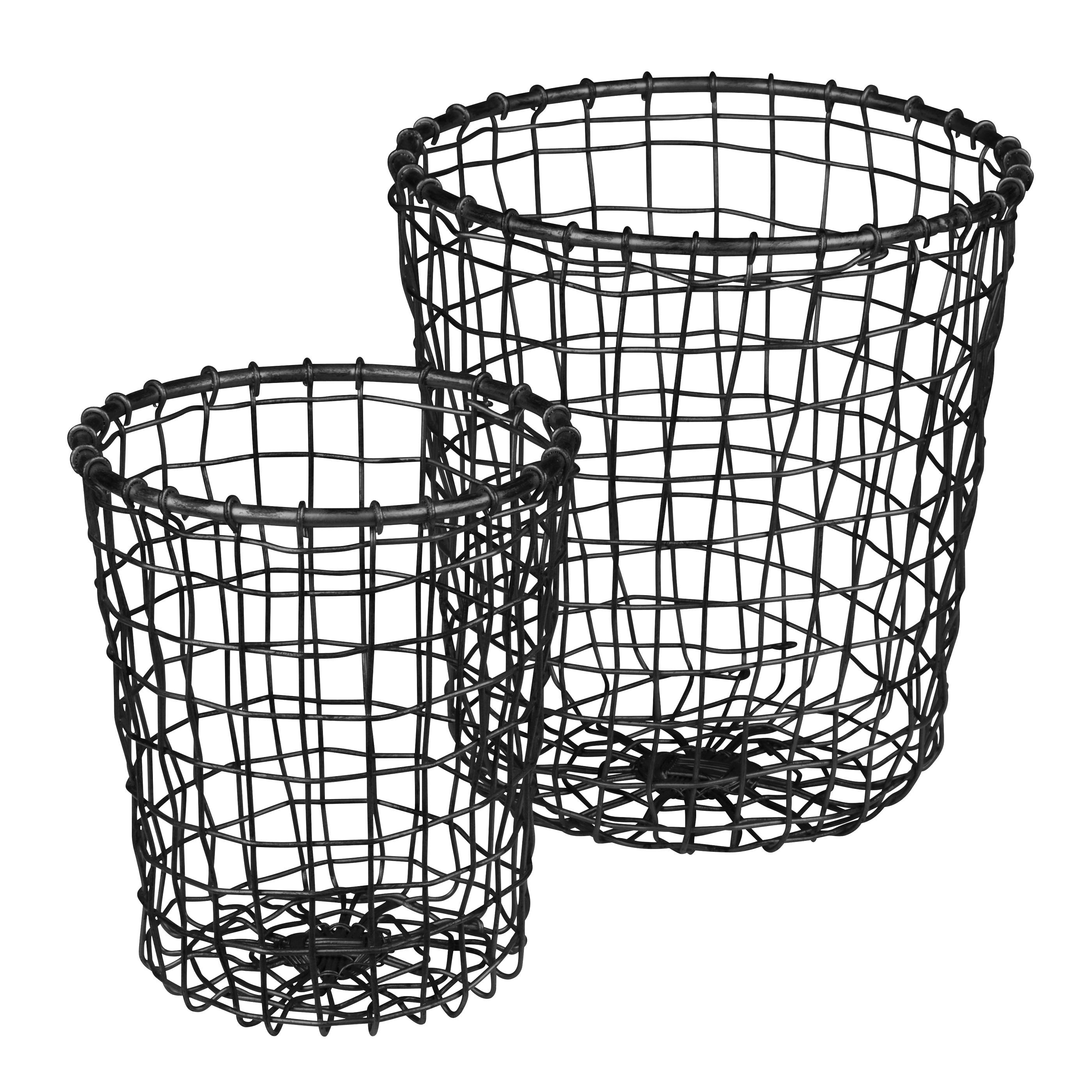 Eightmood Rustic Black Wire Storage Basket Set 7340128022052 | eBay