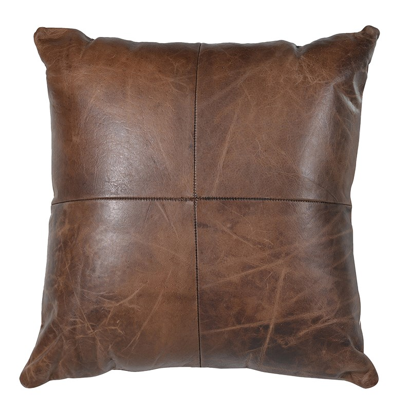 Dark Brown Leather Cushion Tutti Decor Ltd