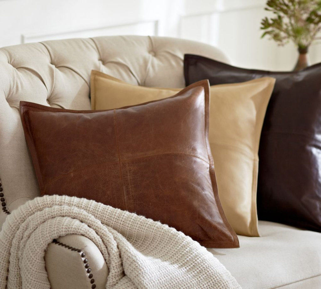 quarter-pieced-leather-cushion