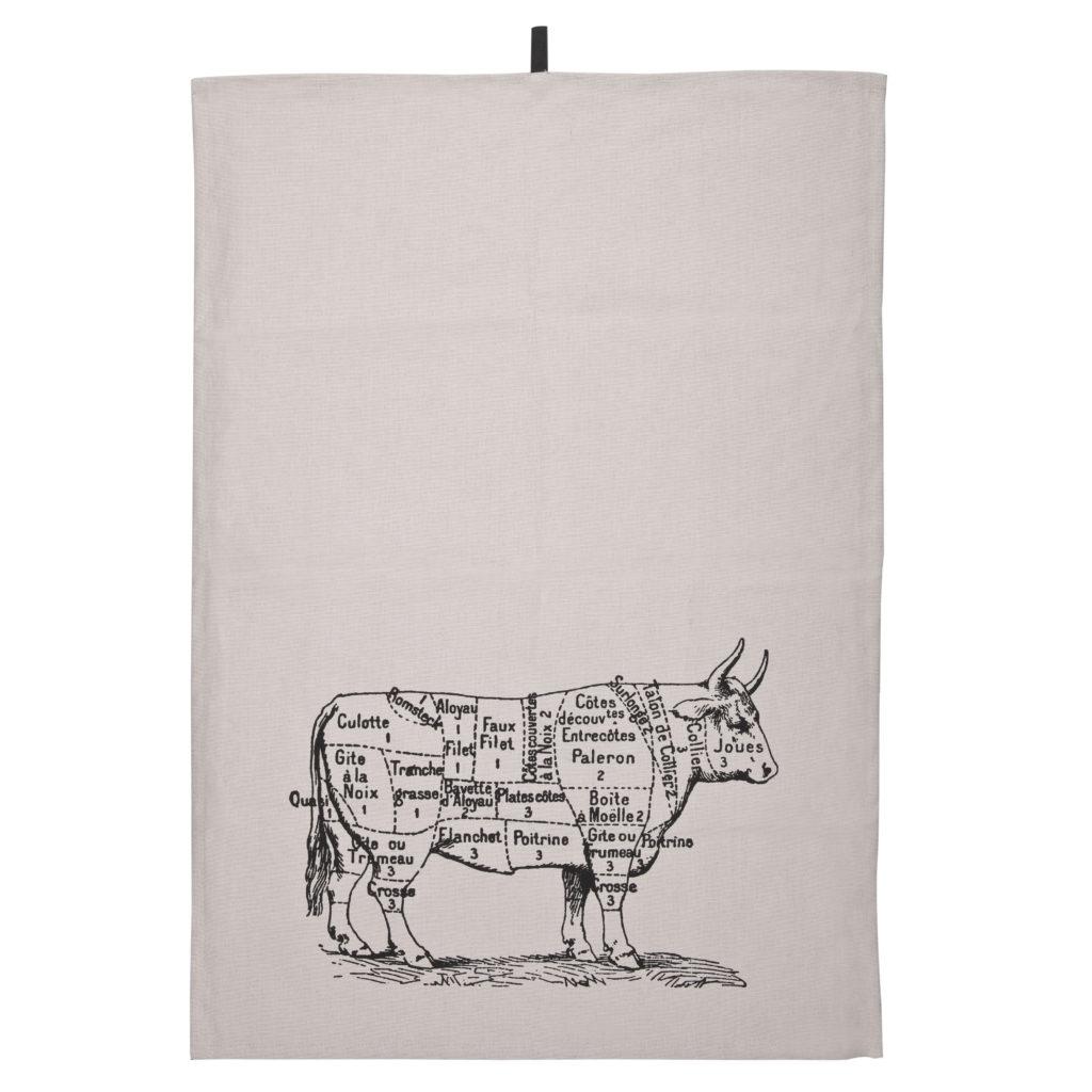 6019194107 Butcher, kitchen towel, beige_black