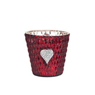 red heart votive