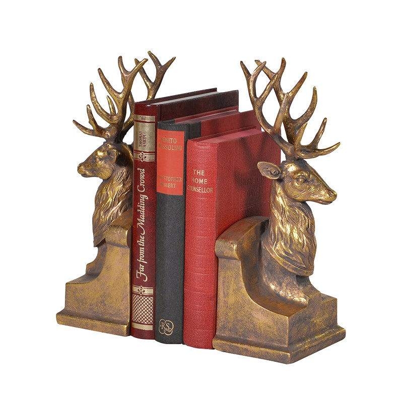 alb172_2-stag-gold-bookends