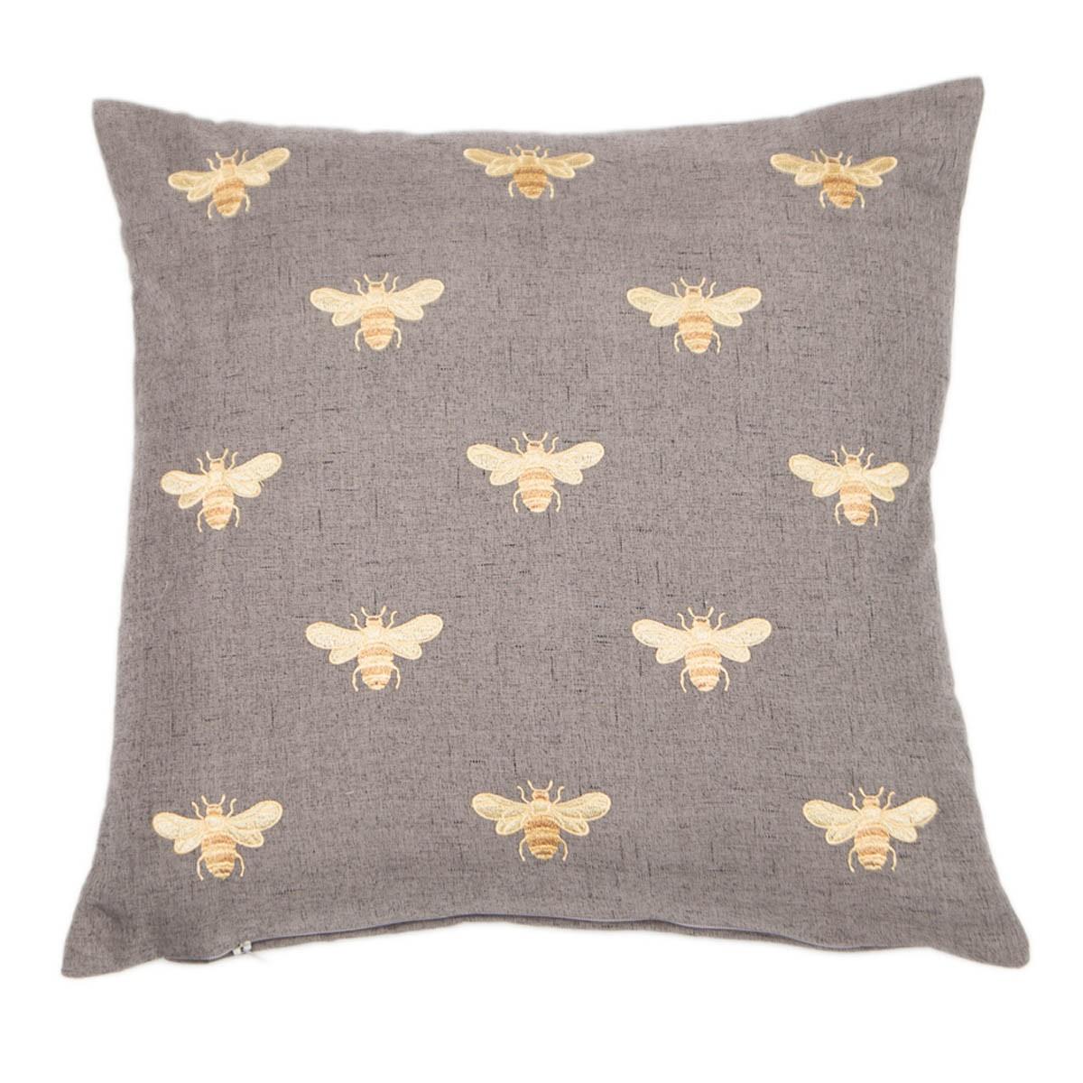 Embroidered Bee Cushion Tutti Decor Ltd