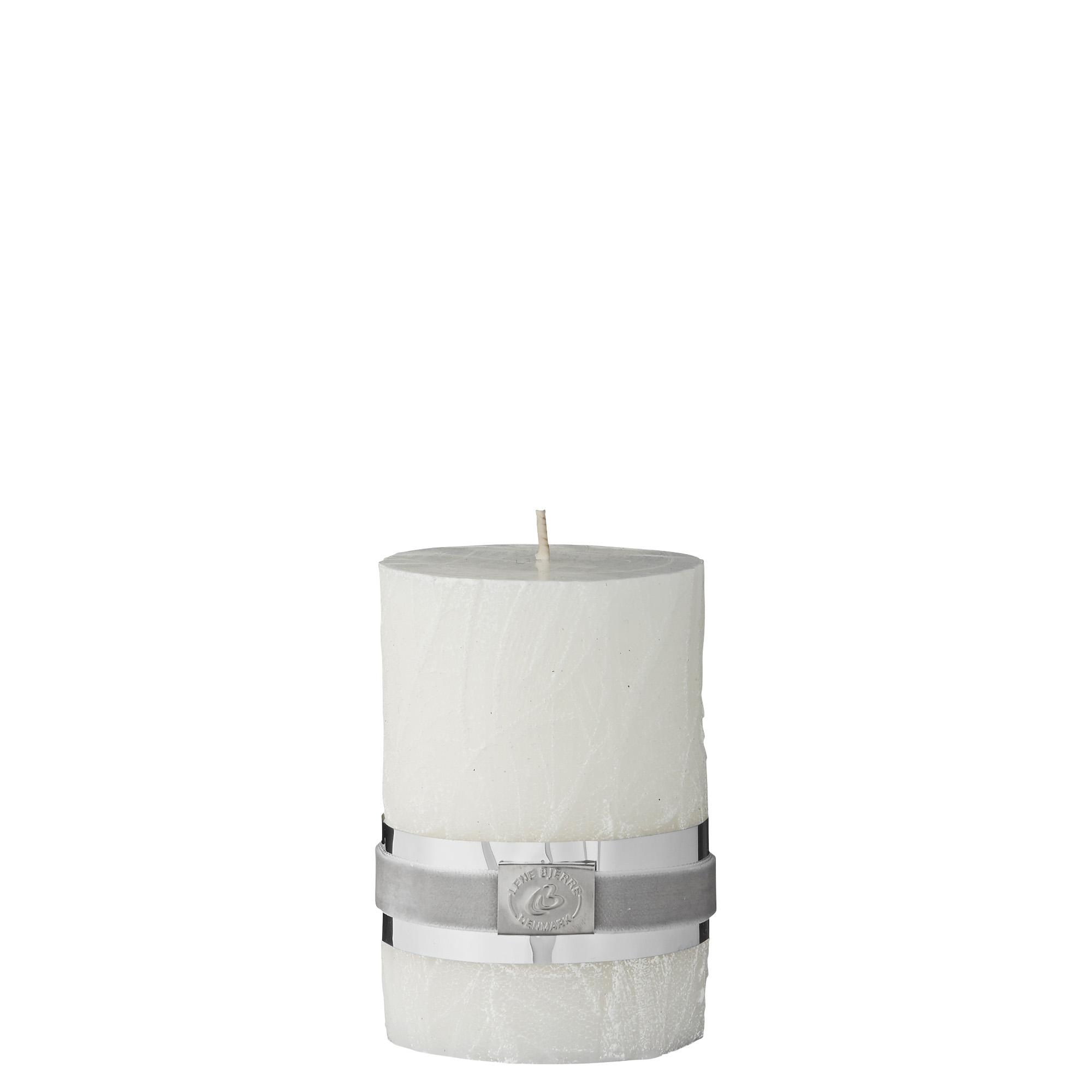 Lene Bjerre White Leaf Carved Candle Tutti Decor Ltd