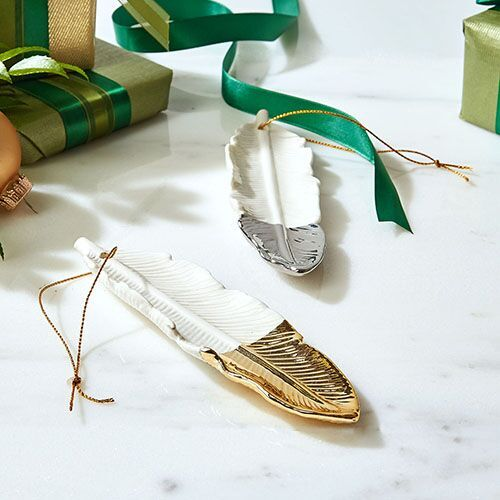 dipped-feather-tree-ornaments-gold-silver