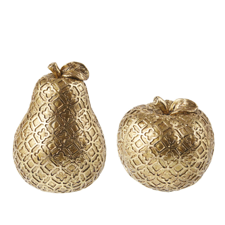 Christmas table decorations gold - Gold Christmas Table Decorations Apple Pear