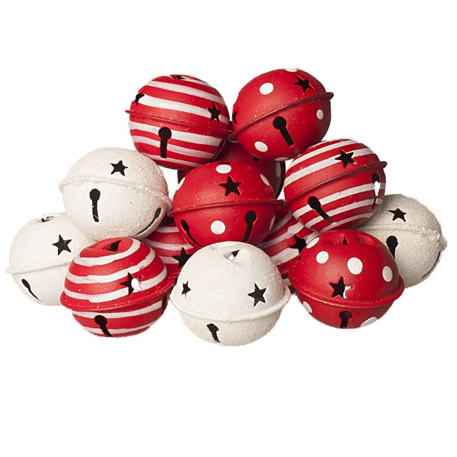 red and white christmas bells decorations white - Christmas Bells Decorations