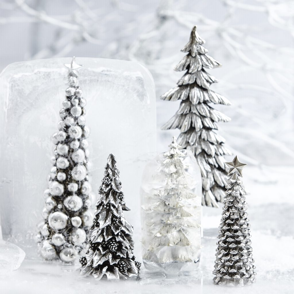 Lene bjerre silver ornamental christmas tree decoration Home decor stores utah county