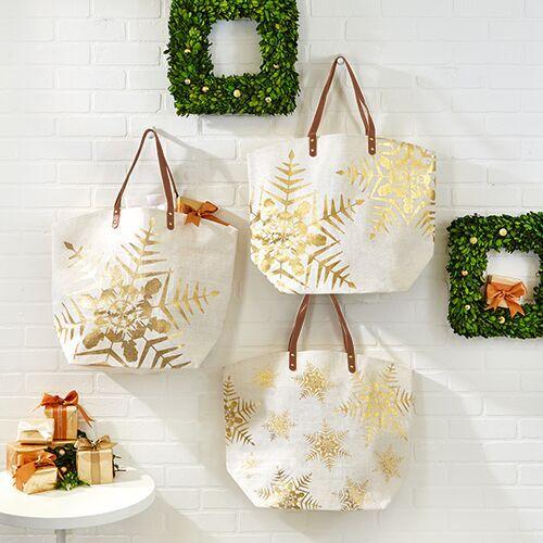snowflake-tote-bag