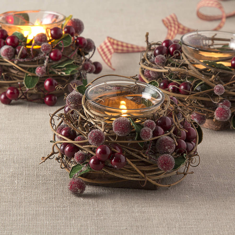 twig-and-red-berry-tea-light-holder