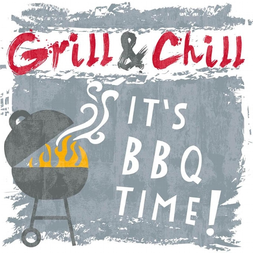 Bbq Time Grey Napkins Tutti Decor Ltd