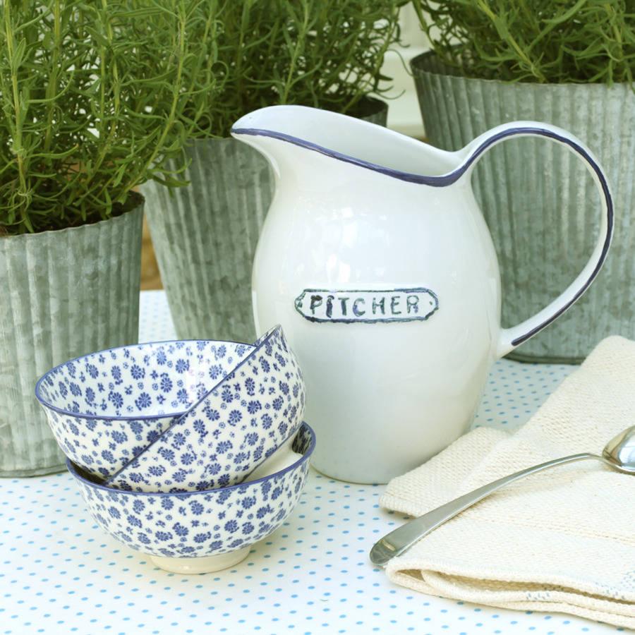 blue-edge-water-pitcher