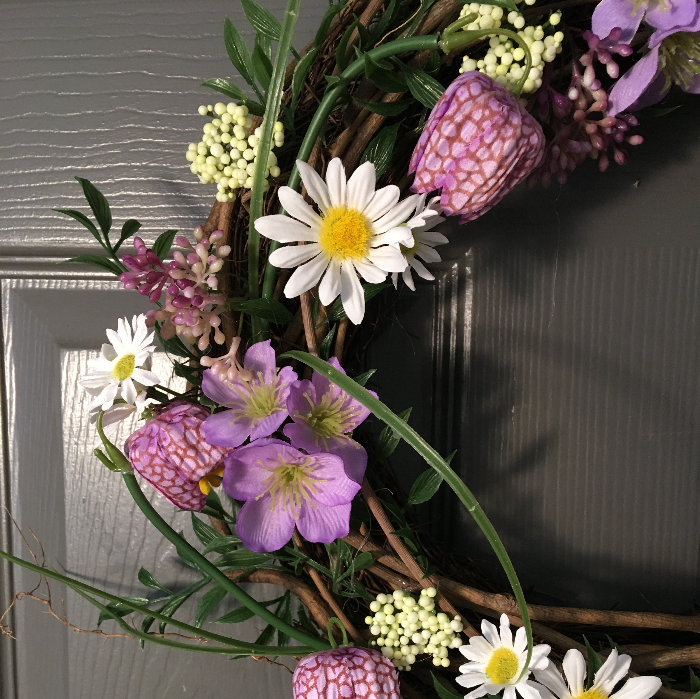 Purple fritillaria mixed spring flowers wreath tutti decor ltd fritillia wreath spring gisela graham close mightylinksfo