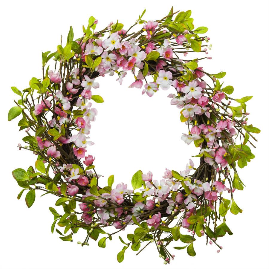 pink-blossom-wreath-gisela-graham-white