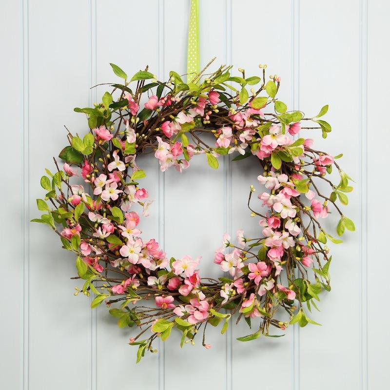 pink-blossom-wreath-gisela-graham