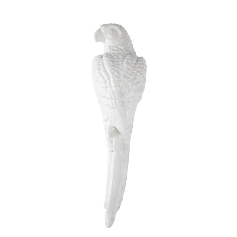 white-parrot-wall-art