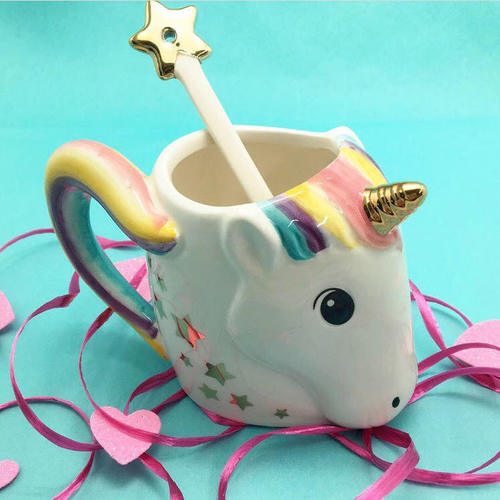 Fantasy Unicorn Mug With Star Stirrer
