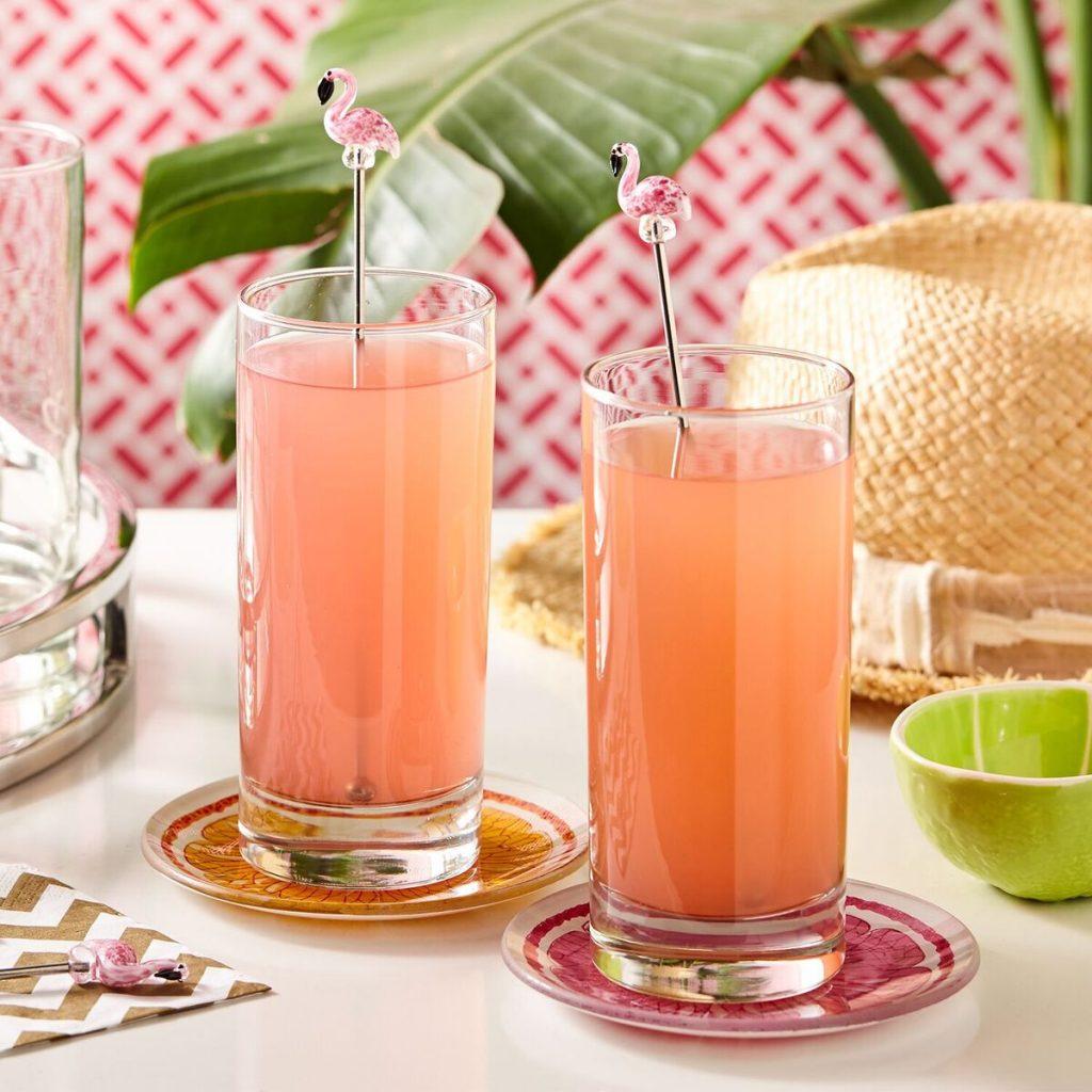 flamingo cocktail stirrers-mood
