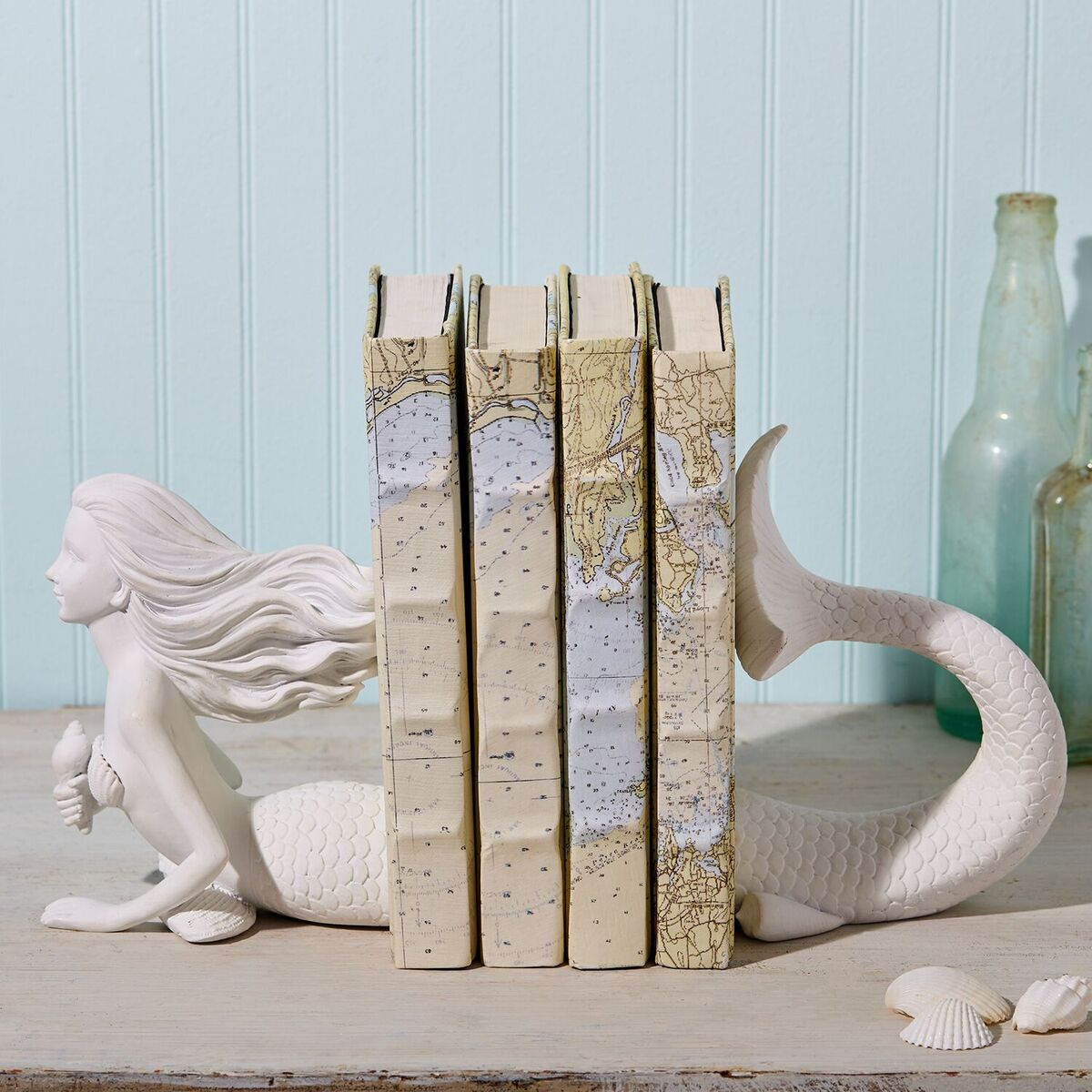 Stunning white mermaid bookends tutti decor ltd for Home decor uk ltd