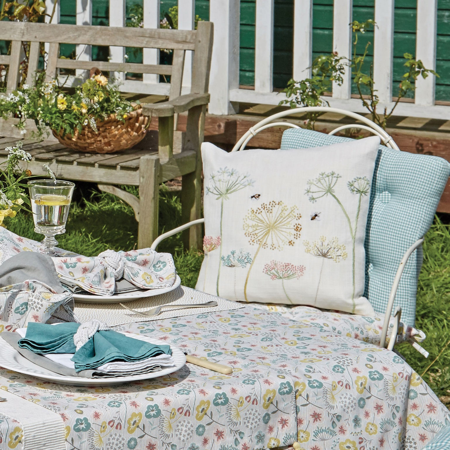 Secret Garden Embroidered Cushion - Tutti Decor Ltd