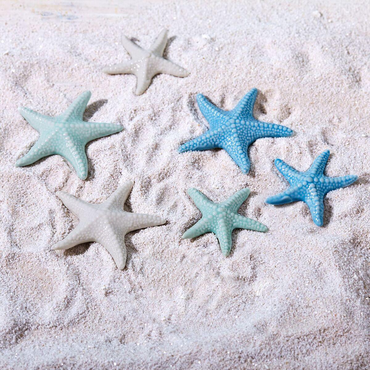 Pastel Ceramic Starfish Decoration Set Tutti Decor Ltd