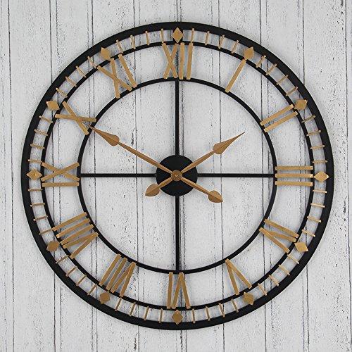 bronze-gold-metal-round-clock-original