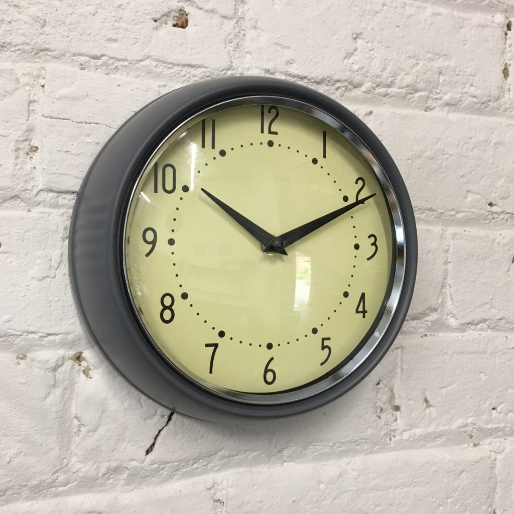 grey-wall-clock