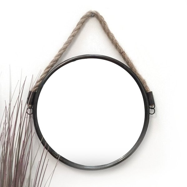 Round Metal Mirror With Rope Part - 15: ... Metal Round Cruise Mirror. Rope-mirror_600x600