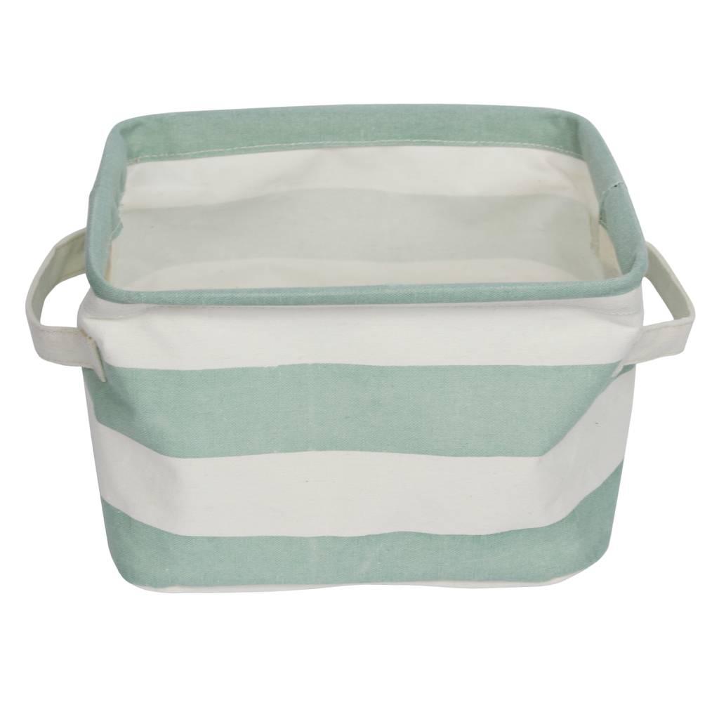 green-stripe-storage-basket