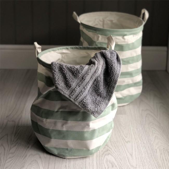 green-stripe-storage-tub