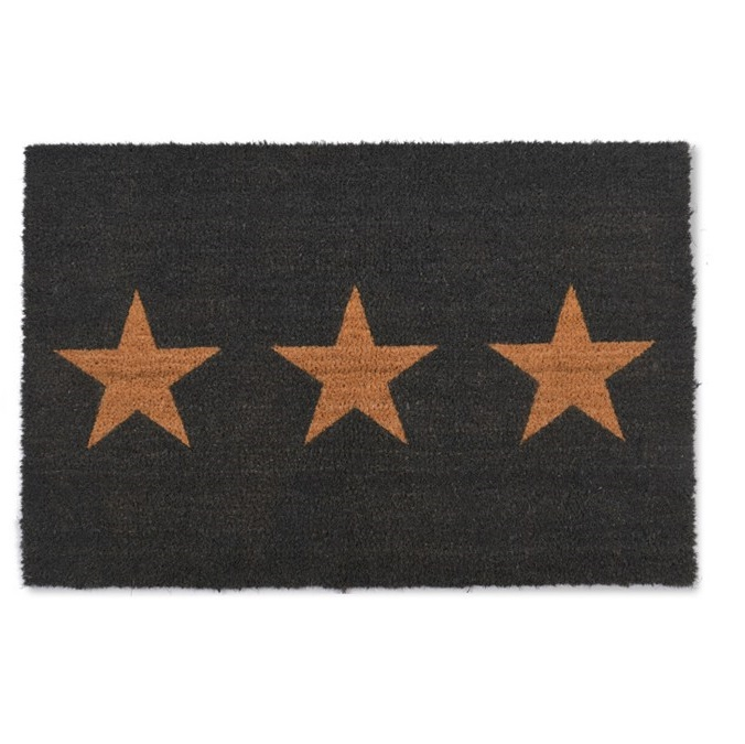 Charcoal Three Stars Coir Doormat Tutti Decor Ltd