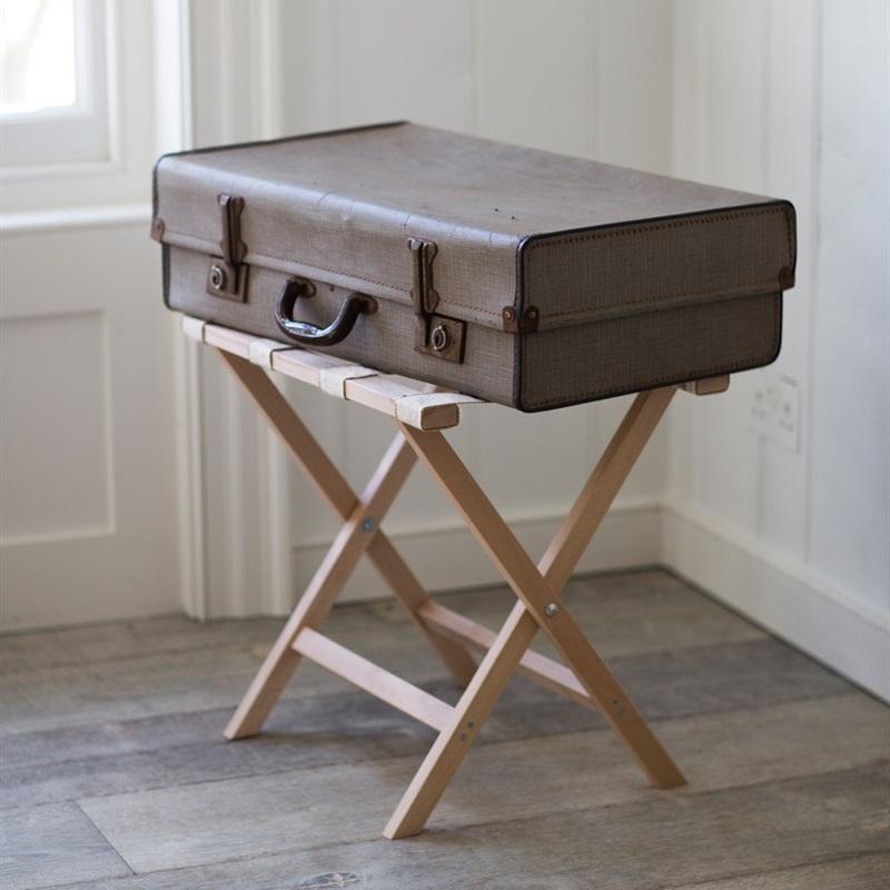 Beech Weekend Folding Luggage Rack Tutti Decor Limited