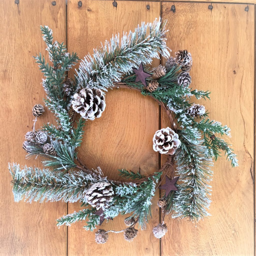 frosted -fir-wreath